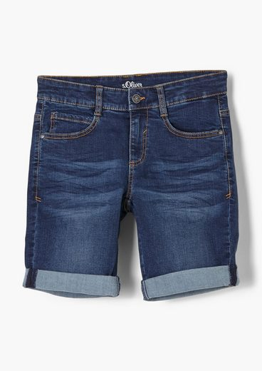 s.Oliver Jeansshorts »Regular Fit: Bermuda-Jeans« Waschung