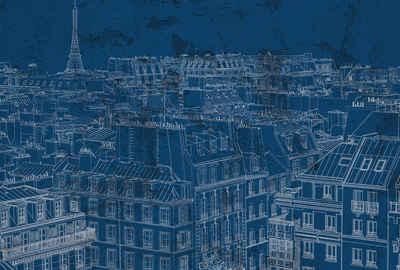 Architects Paper Fototapete »Atelier 47 View of Paris 1«, glatt, Stadt, (4 St)