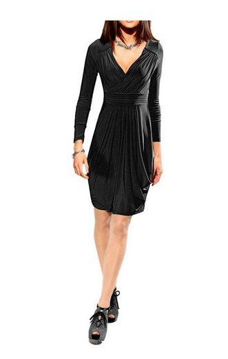 PATRIZIA DINI by Heine A-Linien-Kleid »Patrizia Dini Damen Designer-Drapékleid, schwarz«