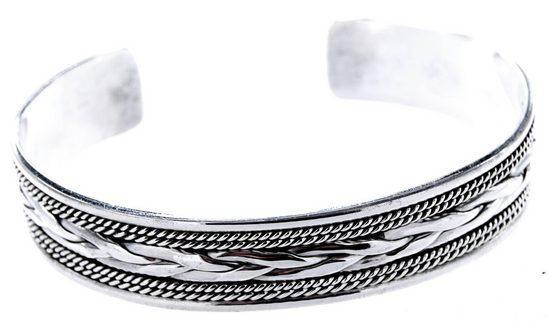 Kiss of Leather Armreif »Armband Armreif 925 Sterling Silber Flechtmuster Knotenmuster geflochten«