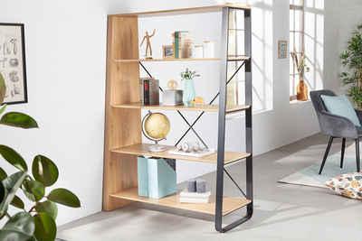 riess-ambiente Standregal »STUDIO 154cm natur / schwarz«, 1-tlg., Industrial Design