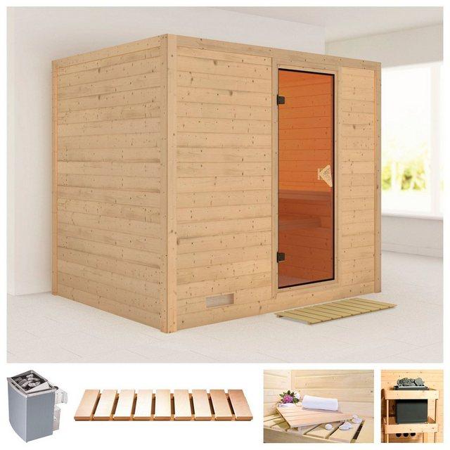 Saunen und Zubehör - KARIBU Sauna »Sonara«, 231x196x198 cm, 9 kW Ofen mit int. Steuerung  - Onlineshop OTTO