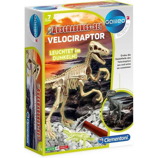 Clementoni® Lernspielzeug »Ausgrabungs-Set Velociraptor«