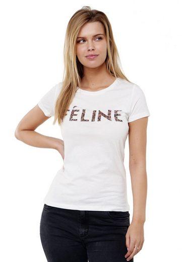 Decay T-Shirt mit modischen Pailletten