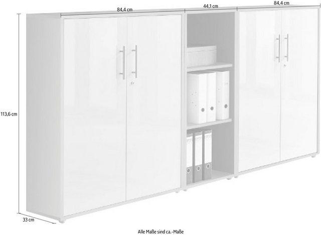 Büromöbel Sets - BMG Büro Set »Tabor«, (Set, 3 St)  - Onlineshop OTTO