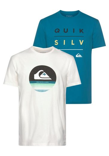 Quiksilver T-Shirt »STACK SHIFT FLAXTON PACK« (Packung, 2er-Pack)