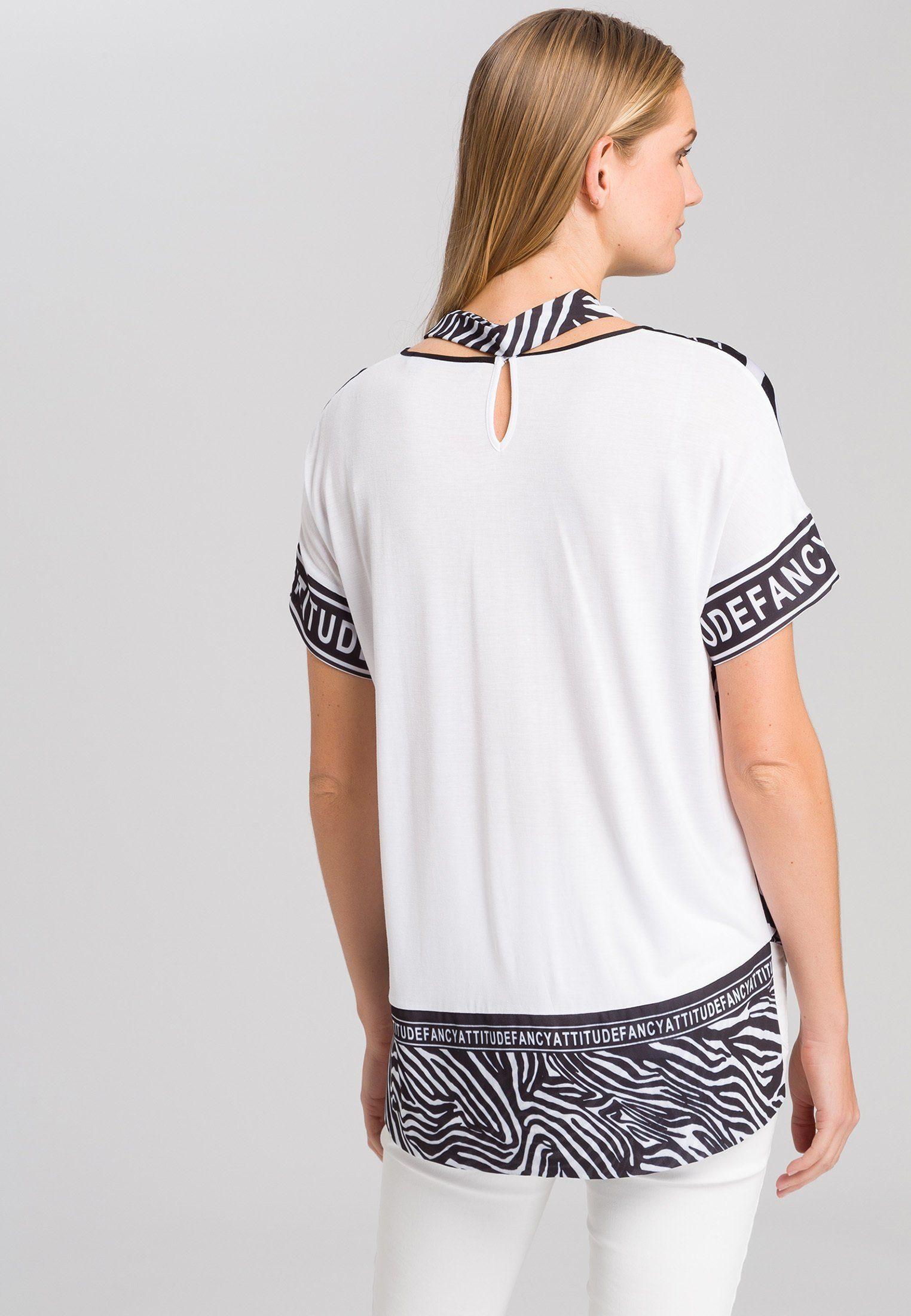 Marc Aurel T-shirt Mit Zebra-print Rücken: Viskose-jersey Online Kaufen