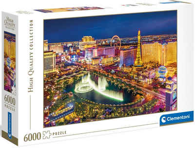 Clementoni® Puzzle »High Quality Collection - Las Vegas«, 6000 Puzzleteile, Made in Europe, FSC® - schützt Wald - weltweit