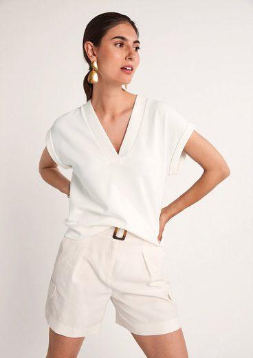 Comma Jackenblazer »Jerseyshirt im Scuba-Style« Blende