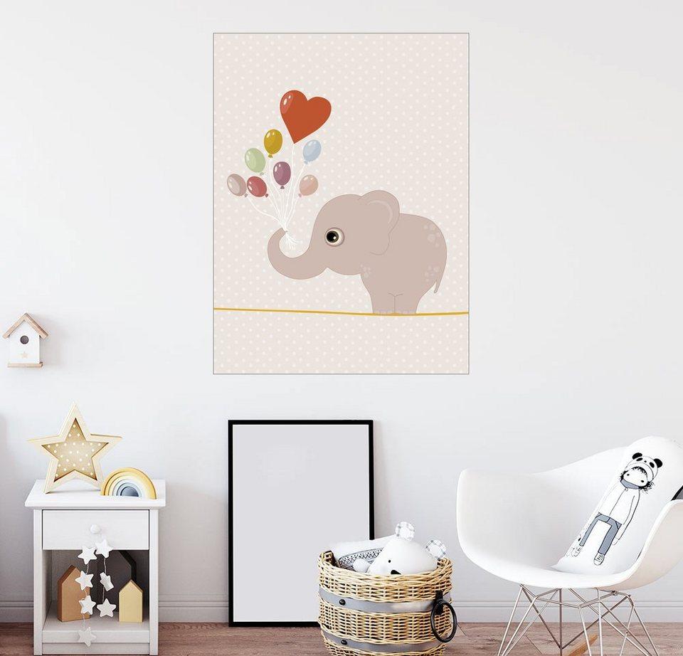 posterlounge wandbild premiumposter elefant mit