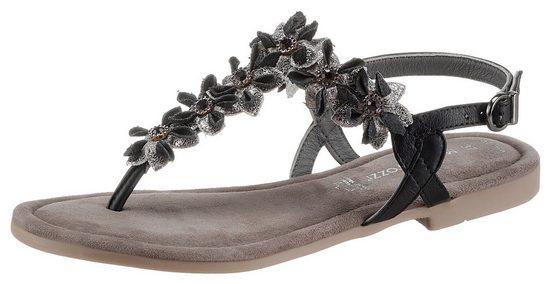 MARCO TOZZI Sandale mit aufwendiger Blütenverzierung