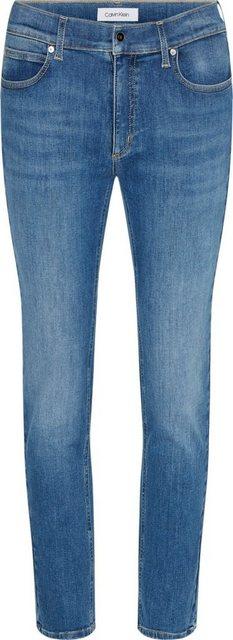 Hosen - Calvin Klein Slim fit Jeans »MID RISE SLIM« mit Calvin Klein Logo Badge ›  - Onlineshop OTTO