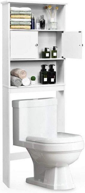 Badregale - COSTWAY Badregal »Badezimmerregal«, Toilettenschrank Standbadregal Überbauschrank Waschmaschinenregal  - Onlineshop OTTO