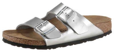 Birkenstock »Arizona Kids Inspired« Pantolette in Metallic-Optik, schmale Schuhweite