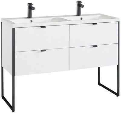 OTTO products Doppelwaschtisch »Netta«, Waschtisch Badmöbel in Breite 120 cm