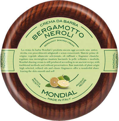 Mondial Antica Barberia Rasiercreme »Luxury Shaving Cream Wooden Bowl Bergamotto Neroli«