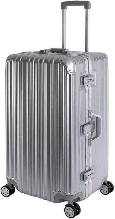Travelhouse Hartschalen-Trolley »London Sports Trunk«, 4 Rollen, TSA Zahlenschloss Aluminium-Rahmen Schnappverschluss Polycarbonat-Hartschale