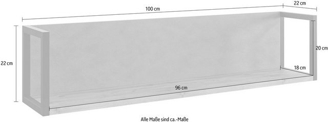 Regale - set one by Musterring Wandboard »Modesto«, Breite 100 cm  - Onlineshop OTTO