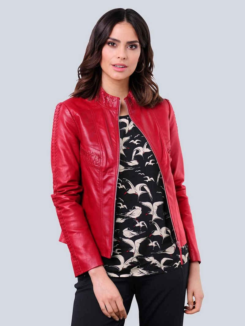 Alba Moda Lederjacke aus hochwertigem weichem Lammnappaleder