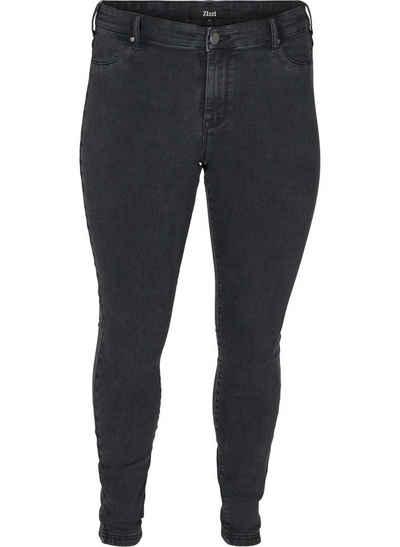 Zizzi Jeansjeggings Große Größen Damen Denim Jeggings aus Baumwolle mit Stretch