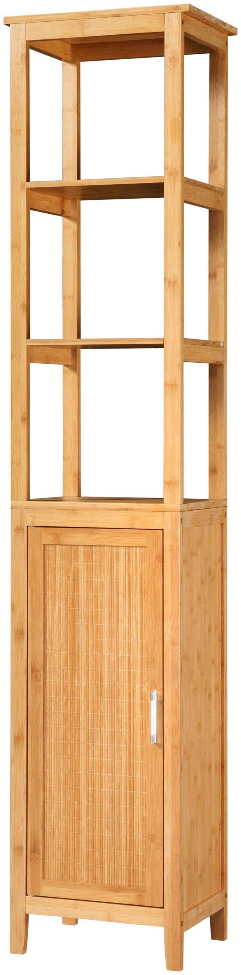 welltime Hochschrank »Bambus New« Badmöbel, Breite 40 cm