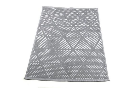 Aymando Geschirrtuch »Gray«, (2-tlg., 50x70cm), Kombiset aus 100% Bio Baumwolle Küchentücher, Gray Triangles