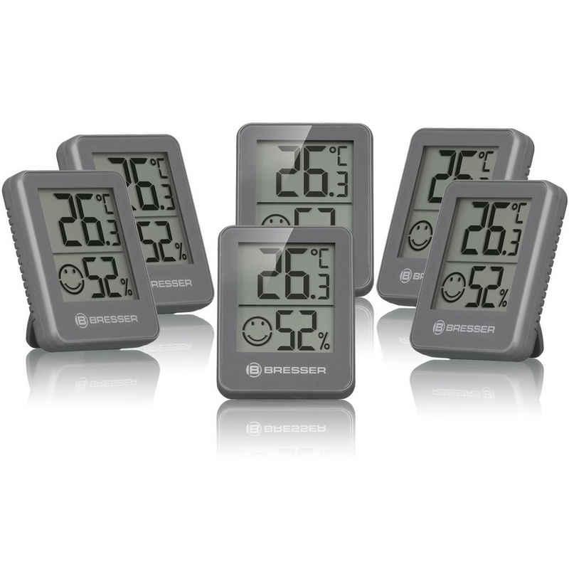 BRESSER »Temeo Hygro Indikator 6er-Set Thermo-/Hygrometer« Funkwetterstation