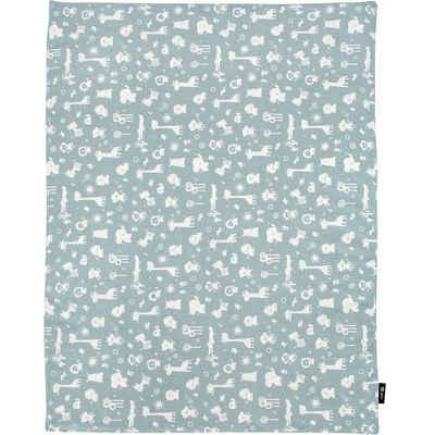 Alvi® Bett »Babydecke Jersey, Animals blau, 75 x 100 cm«