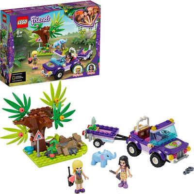 LEGO® Konstruktionsspielsteine »Rettung des Elefantenbabys mit Transporter (41421), LEGO® Friends«, (203 St)