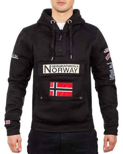 Geographical Norway Kapuzenpullover »Geographical Norway Herren Pullover bagymclass« (1-tlg) Kapuze,Norwegen Fahne,bauchtasche,Hoodie