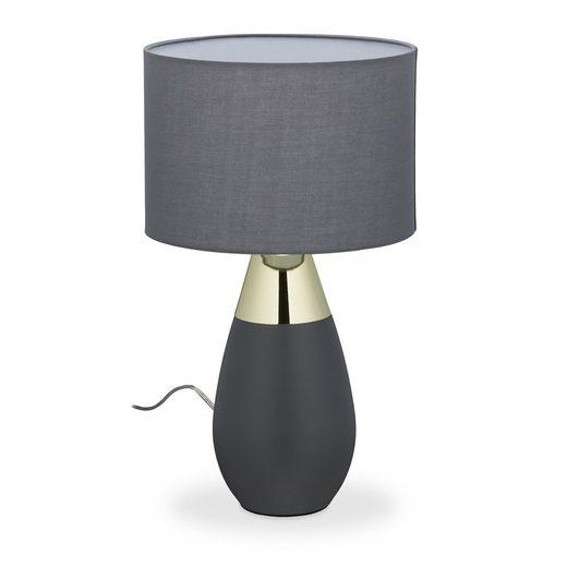 relaxdays Nachttischlampe »Nachttischlampe Touch oval XL«