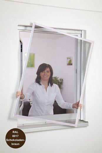 HECHT Insektenschutz-Fenster »Basic«, Bausatz BxH: 100x120 cm, braun