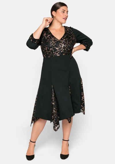 Spitze lang kleid mit schwarzes Schwarzes Kleid