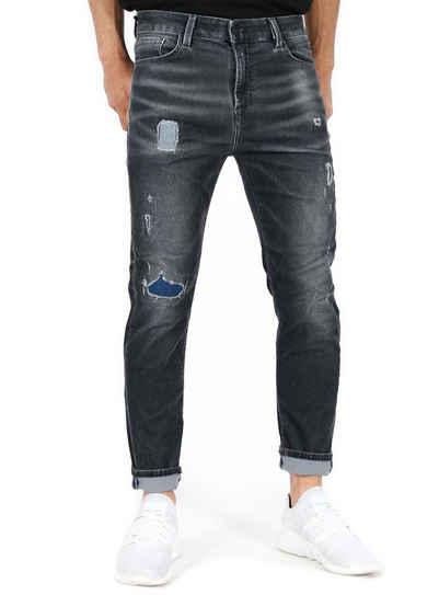 Jack & Jones Ankle-Jeans Knöchellange Herren Slim Fit Cord Jeans Hose Erik
