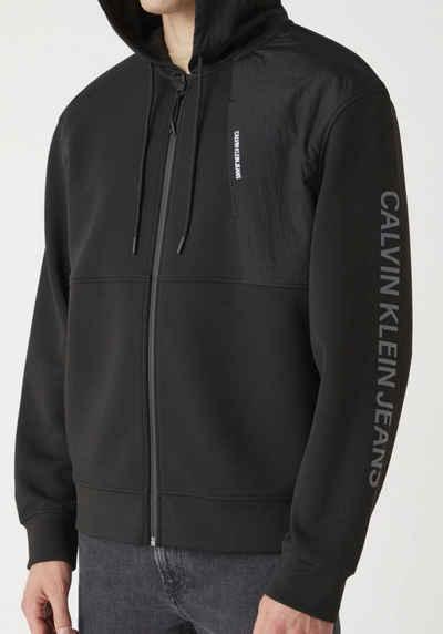 Calvin Klein Jeans Kapuzensweatjacke »BACK GRAPHIC MIXED ZIPTHROUGH«