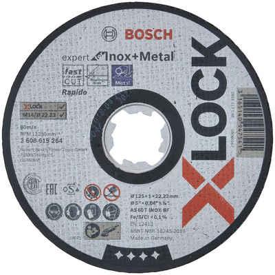 BOSCH Trennscheibe »X-LOCK Expert for Inox+Metal«, 125 x 1 x 22,23, gerade