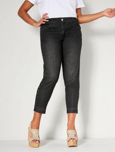 Angel of Style by HAPPYsize Slim-fit-Jeans mit Nieten seitlich