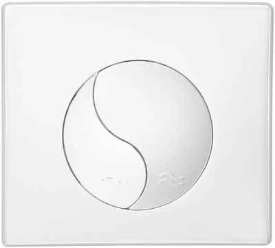 CORNAT Betätigungsplatte »YIN«,2-Mengen-Spülung, VWC352/WEK2 weiß