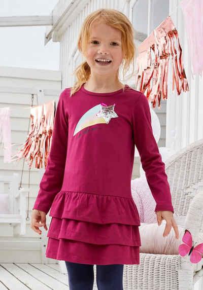 KIDSWORLD Jerseykleid mit Pailletten und Glitzerdruck