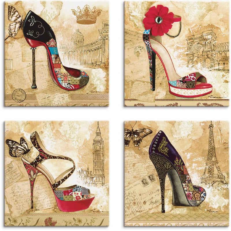 Artland Leinwandbild »Veränderliche Zeiten Stiletto«, Mode (4 Stück)
