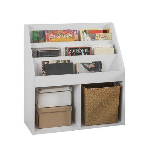 SoBuy Bücherregal »KMB01«, Kinderregal mit 3 Ablagefächern und 2 offenen Fächern