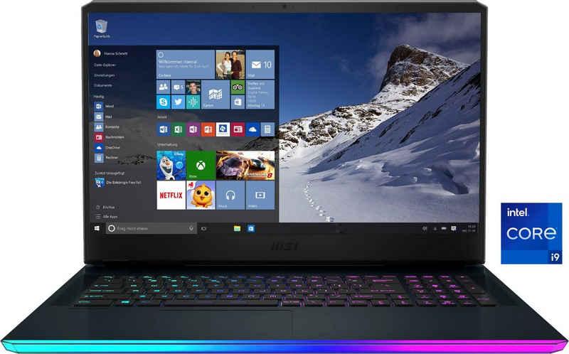 MSI GE76 Raider 11UH-082 Gaming-Notebook (43,9 cm/17,3 Zoll, Intel Core i9 11980HK, GeForce RTX™ 3080, 2000 GB SSD, Kostenloses Upgrade auf Windows 11, sobald verfügbar)