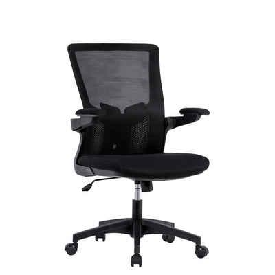 Masbekte Drehstuhl, Ergonomischer Computerstuhl Drehstuhl Bürostuhl mit Fußstützen und Rückenlehne, drehbar und höhenverstellbar, bis 150kg