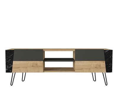 moebel17 TV-Regal »TV Lowboard Fanten mit Metallfüße Safir Marmor Ant«, Das TV Lowboard >> Fanten<< im modernen und zeitlosen Design bringt einen Hauch von Stil in Ihre Wohnoase