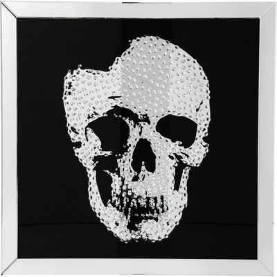 KARE Dekoobjekt »Bild Frame Mirror Skull 100x100cm«