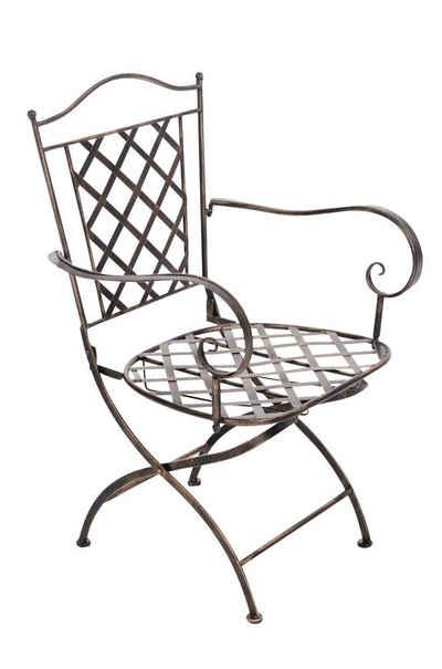 CLP Gartenstuhl »Adara«, handgefertigter Gartenstuhl aus Eisen