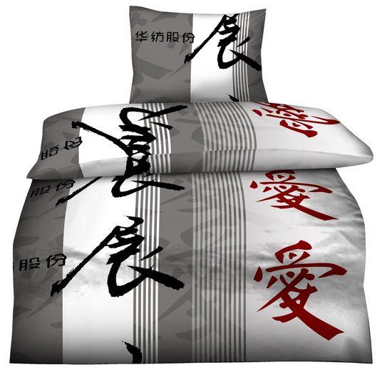 Bettwäsche »Oriental«, One Home, mit China Zeichen