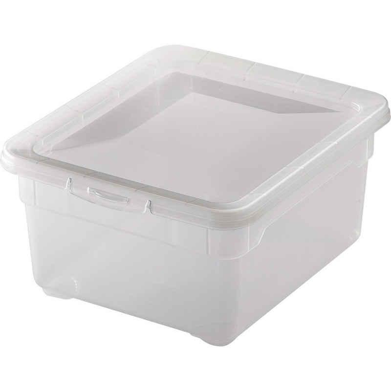 Rotho Schuhbox »2l Clear Box Aufbewahrungsbox stapelbar 19x16,5x9cm« (1 Stück)