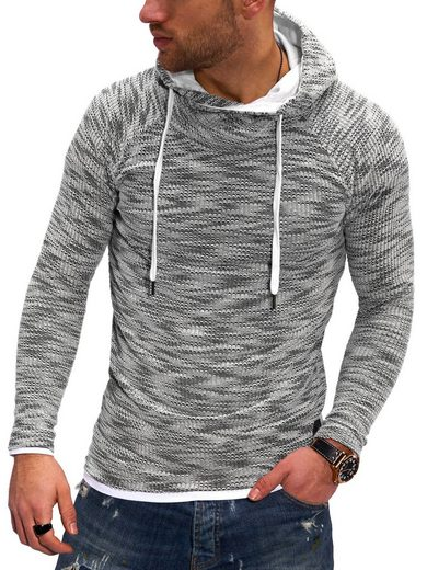 behype Kapuzensweatshirt »B-JOHN« im trendigen Layer-Look
