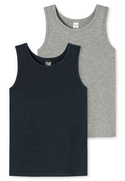 Schiesser Unterhemd »Jungen Unterhemd 2er Pack - Shirt ohne Arm, Cotton«